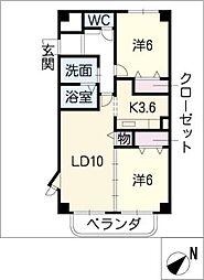 愛知県名古屋市緑区古鳴海1丁目の賃貸マンションの間取り