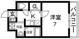 GOOD LIFE岩田(グッドライフ岩田) 7階1Kの間取り