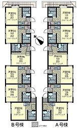 サクセス矢口渡 B棟[1階]の間取り