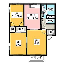 パークタウン中野A[2階]の間取り