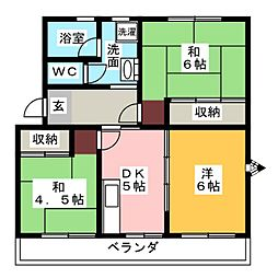 メゾン塚本[1階]の間取り