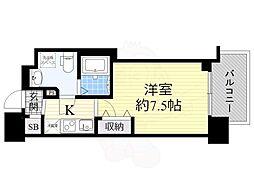 セレニテ谷九プリエ 12階1Kの間取り