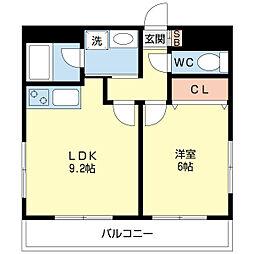 LEO弐拾参番館[4階]の間取り