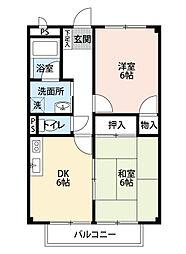 SURPLUSカーサフローレ[1階]の間取り