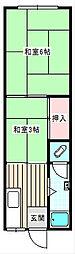 城山マンション[303号室]の間取り
