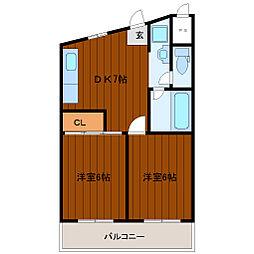 ルーマ328[4階]の間取り