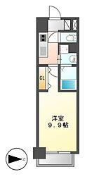 リシュドール鶴舞公園[11階]の間取り