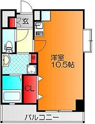 パラッツォ プリマウ゛ェーラ 3階ワンルームの間取り