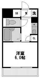 リーガル新大阪[201号室]の間取り