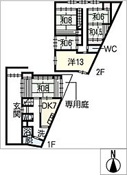 [一戸建] 三重県津市丸之内 の賃貸【/】の間取り