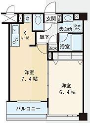 赤坂シャトー松風[5階]の間取り