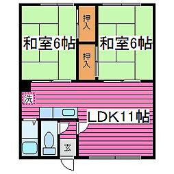 古川荘[203号室]の間取り