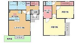 [一戸建] 大阪府豊中市小曽根2丁目 の賃貸【/】の間取り