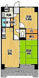 オリエンタルH-FKビル[5階]の間取り
