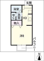ミヒロハイツ パートV[1階]の間取り
