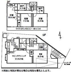 耐震補強工事済・リフォームプラン有・東雪谷3丁目戸建 4LDKの間取り