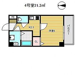 Osaka Metro御堂筋線 昭和町駅 徒歩11分の賃貸マンション 9階1Kの間取り