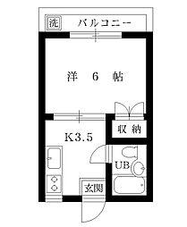 第3青山マンション[207号室]の間取り