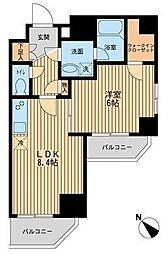 レジディア蒲田III bt[1101kk号室]の間取り