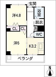 第18和興マンション 北館[3階]の間取り