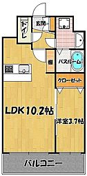 ラーナ 福岡東[5階]の間取り
