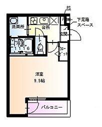 フジパレス堺北花田III番館[1階]の間取り