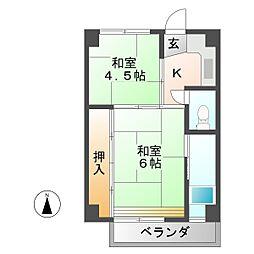 ビレッジハウス恵那 1号棟[3階]の間取り
