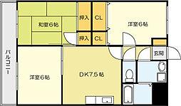 小文字幹線ビル[8階]の間取り