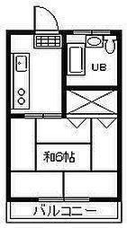 サンライズワタナベマンション[410号室]の間取り