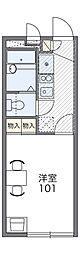 京阪本線 古川橋駅 徒歩15分の賃貸マンション 2階1Kの間取り