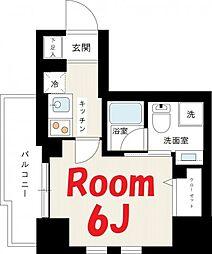 神奈川県横浜市中区長者町8丁目の賃貸マンションの間取り