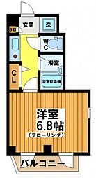 東京都渋谷区幡ヶ谷2丁目の賃貸マンションの間取り