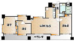 ニューサンリバー13番館[5階]の間取り