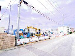 埼玉県八潮市古新田の賃貸アパートの外観