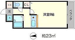 アパートメント宝ヶ池[1階]の間取り