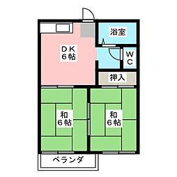 ドミールマサA[1階]の間取り