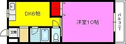 諸福マンション[4階]の間取り
