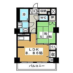 レジデンスカープ札幌[13階]の間取り