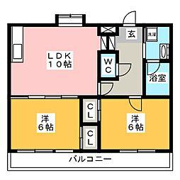 YGM筥松21[5階]の間取り
