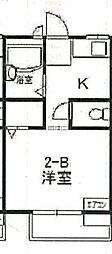 大阪府寝屋川市成美町の賃貸アパートの間取り