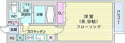 リブリ・K-1宮城野 1階1Kの間取り