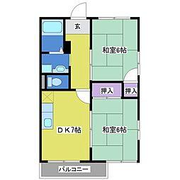 メゾントルティ[2階]の間取り