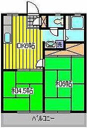 青木ヴィレッジ[1階]の間取り