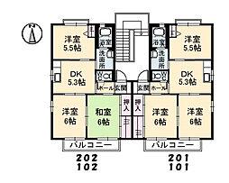 シャーメゾン東割 A棟[202号室]の間取り