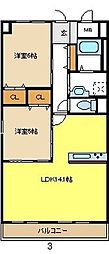 愛知県名古屋市中村区熊野町2丁目の賃貸マンションの間取り