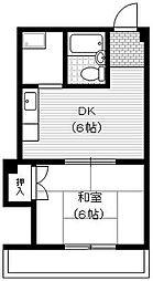 ハイツアーバン[3階]の間取り