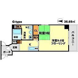 ロハス江坂[2階]の間取り