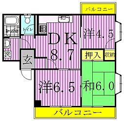 ロイヤルセピアI・II[1-203号室]の間取り