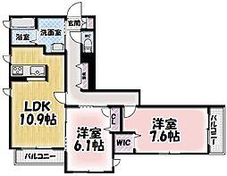 シャーメゾン大樹[105号室号室]の間取り