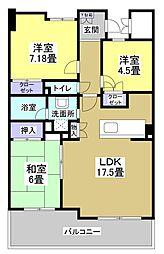 セントラルイースト(506)[5階]の間取り